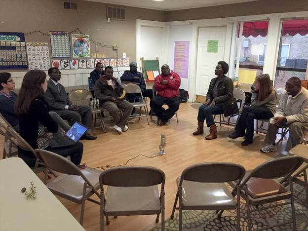 Members of the Raleigh Immigrant Community (RIC) group gather to share their stories of navigating American culture. (Photo/Jessica Southwell)